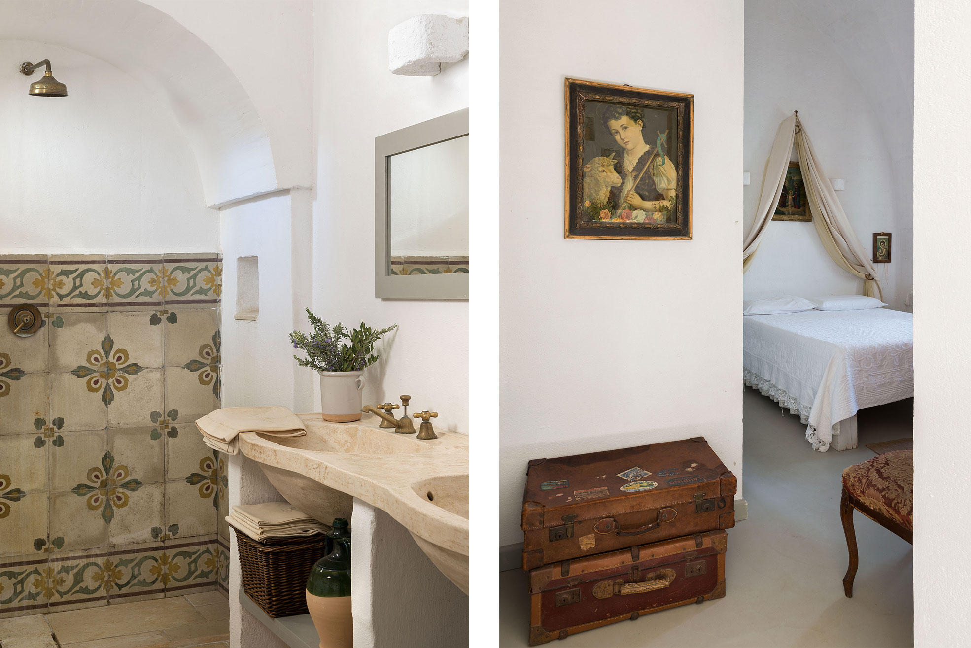 Bathroom at Masseria Potenti in Puglia Photographer Maria Teresa Furnari