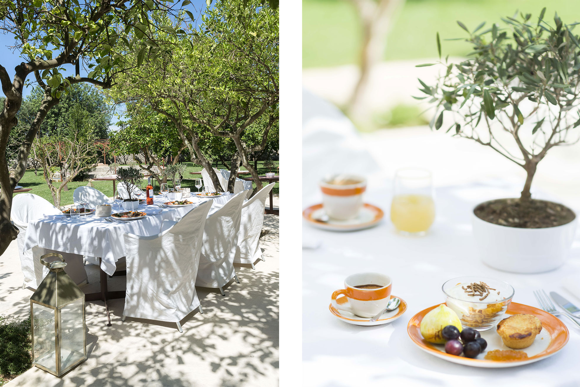 Breakfast at the boutique hotel Masseria Trapanà in Puglia Photographer Maria Teresa Furnari
