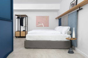 Double room at Bnbiz coworking hotel Photographer Maria Teresa Furnari