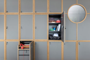 Cabinets detail at Bnbiz coworking hotel Photographer Maria Teresa Furnari