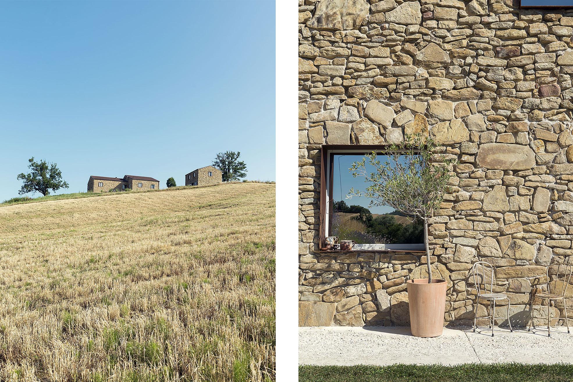 Detail Facade of Malatetsa Maison de Charme in the marche hills Photographer Maria Teresa Furnari