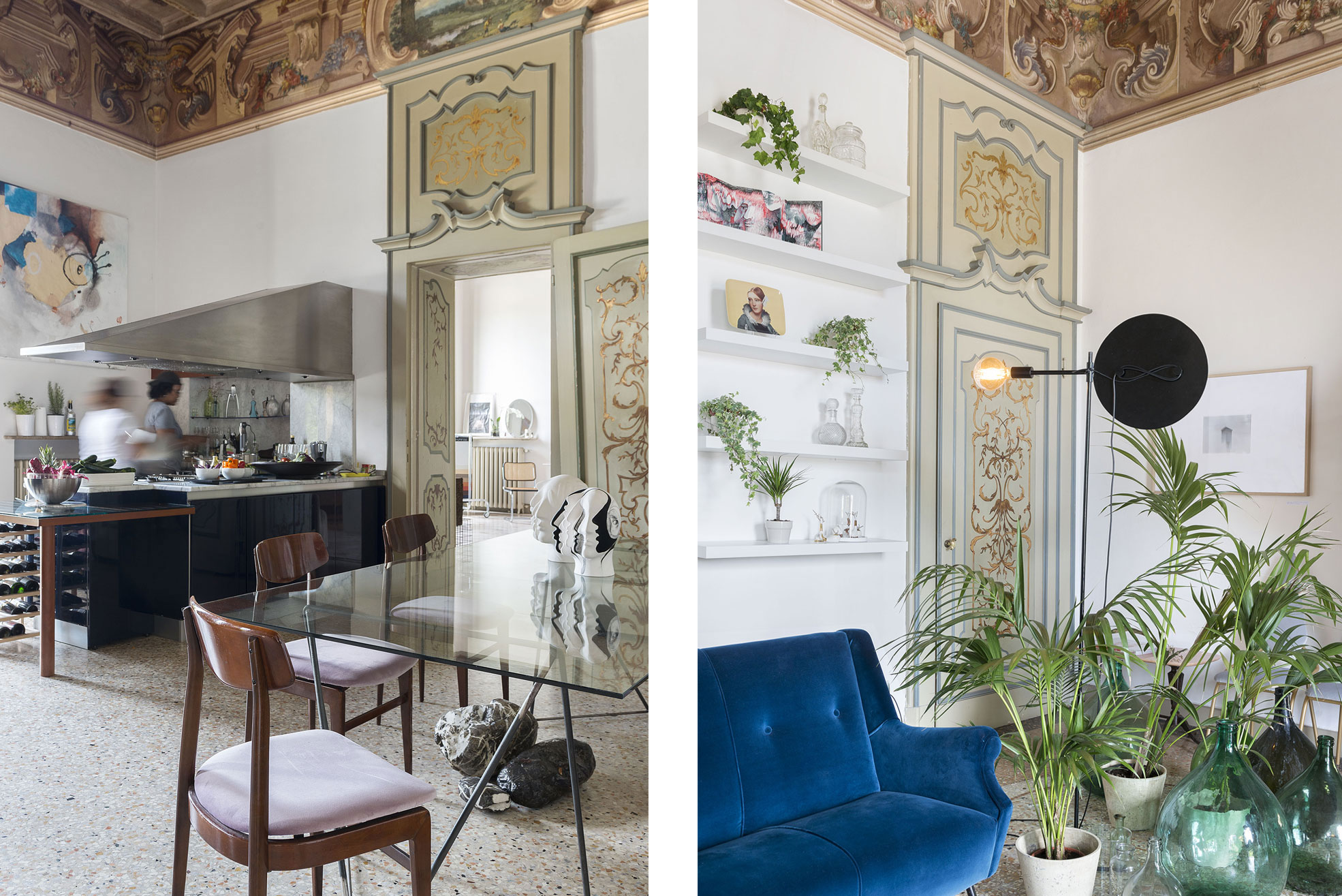 Kitchen of Casa Canvas, a gallery for young designers created