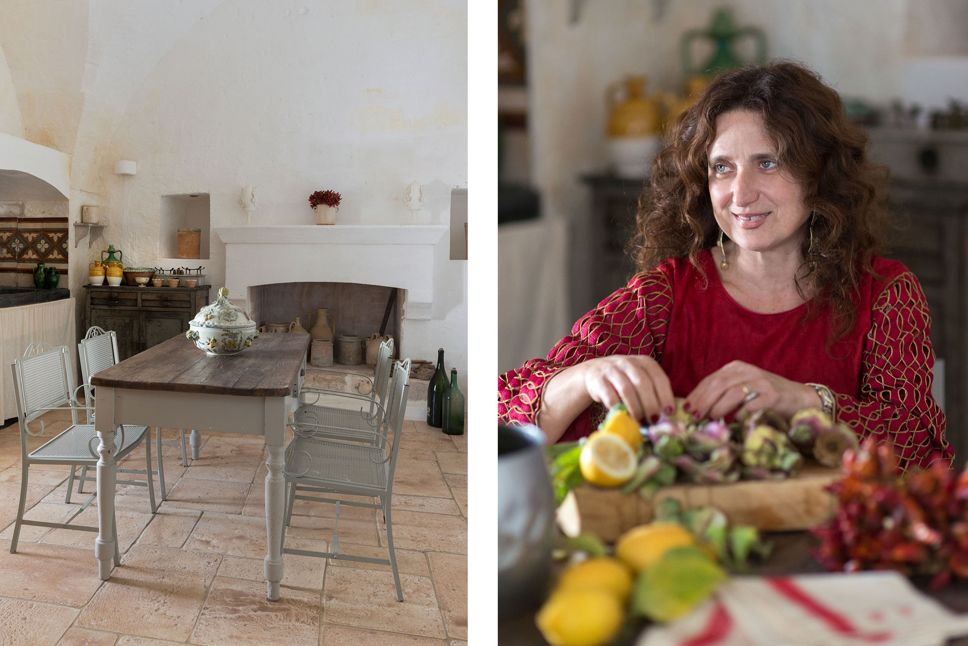 Kitchen at Masseria Potenti in Puglia Photographer Maria Teresa Furnari