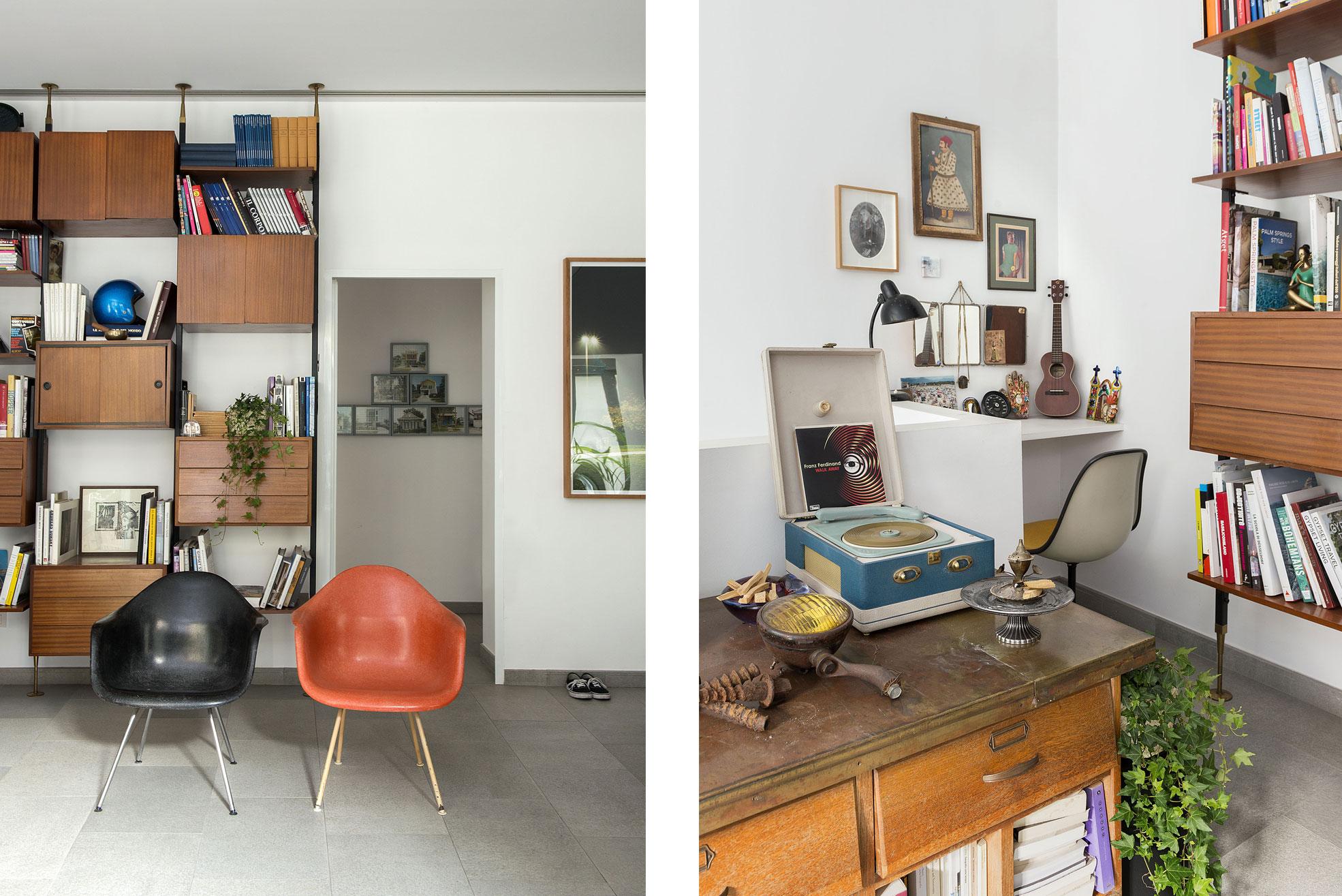 Library of the gipsy house of Giovanna Forlivesi Photographer Maria Teresa Furnari
