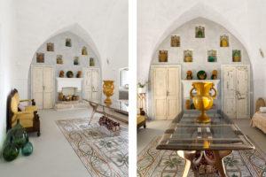 Living room in Masseria Potenti in Puglia Photographer Maria Teresa Furnari