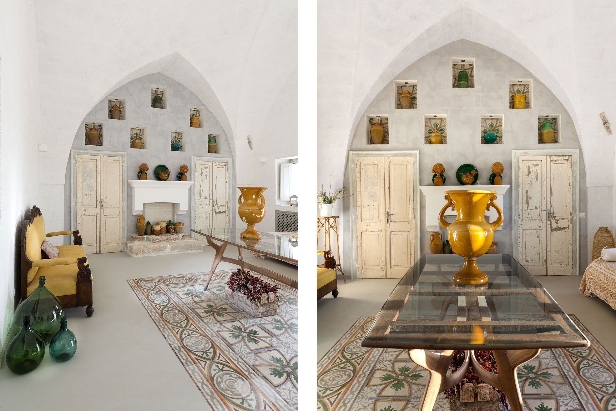 Living room in Masseria Potenti in Puglia Photographer Maria Teresa Furnari