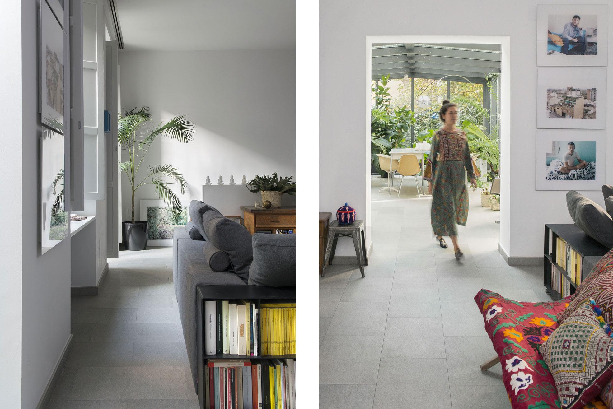 LivingRoom of the gipsy house of Giovanna Forlivesi Photographer Maria Teresa Furnari
