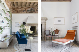 Living room details of Casa Canvas, a gallery for young designers created by Thayse Viègas Photographer Maria Teresa Furnari