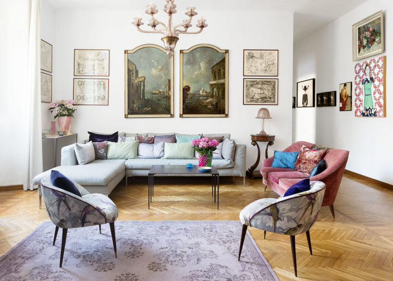 Living Room of Elena Corner's house Photographer Maria Teresa Furnari