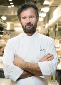 Portrait of Chef Carlo Cracco in the kitchen Photographer Maria Teresa Furnari