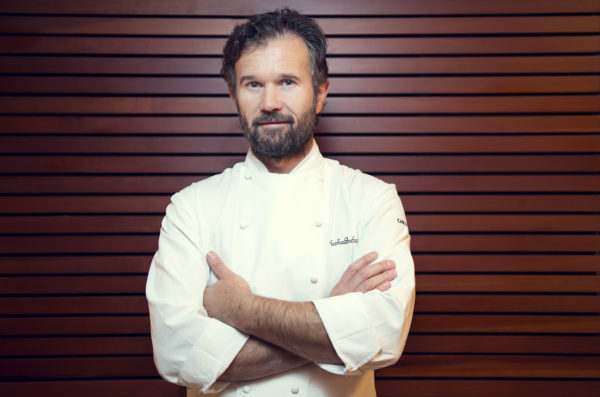 Portrait of Chef Carlo Cracco in his restaurant Photographer Maria Teresa Furnari