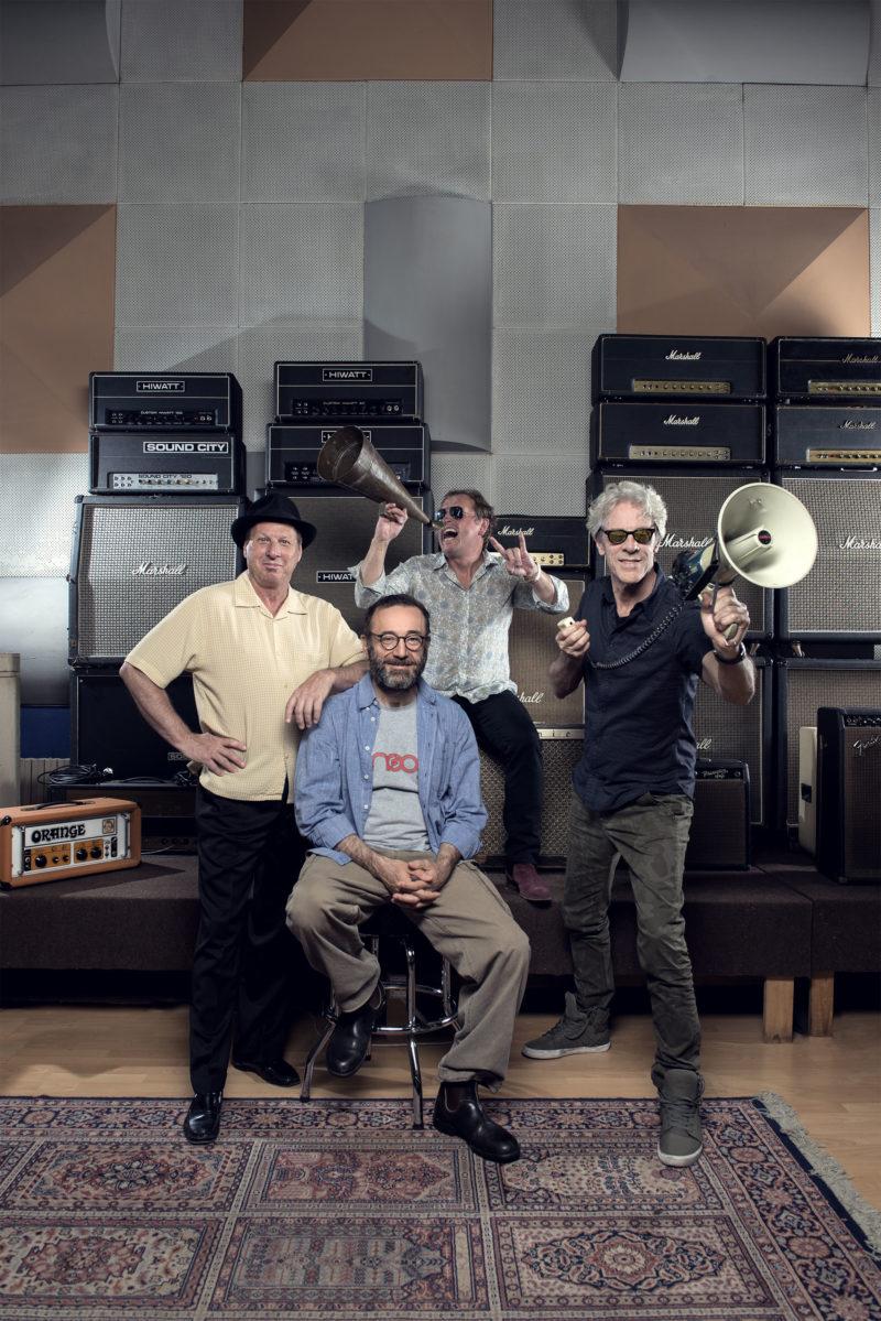 Portrait of the musical group Gizmodrome Photographer Maria Teresa Furnari