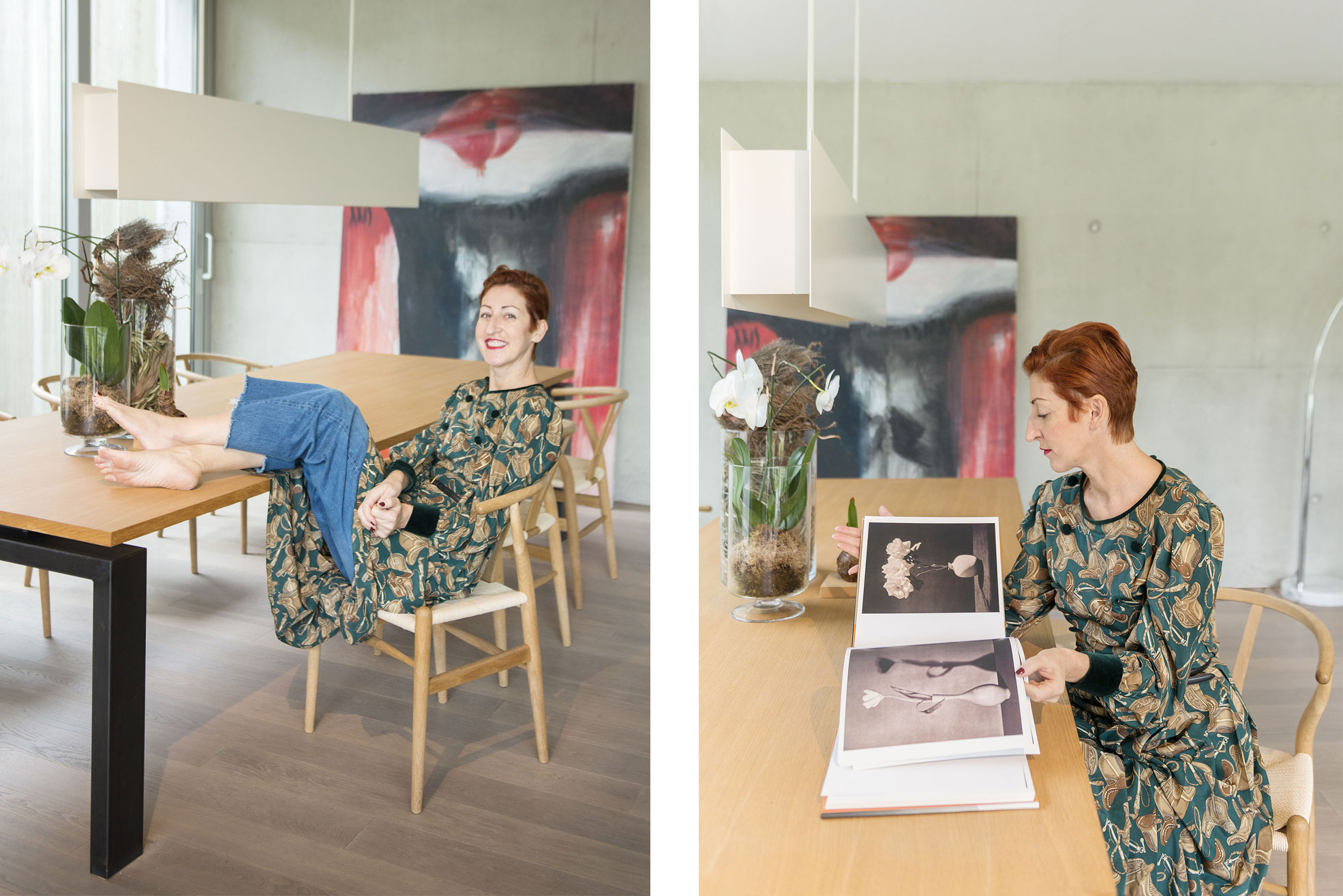 Portrait of Rosalba Piccinni in her villa Photographer Maria Teresa Furnari
