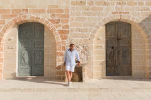Portrait of the owner of the boutique hotel Masseria Trapanà in Puglia Photographer Maria Teresa Furnari
