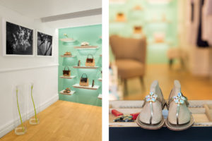 Close up on a pair of shoes and Interior Photo of Socapri Boutique in in Capri island Photographer Maria Teresa Furnari