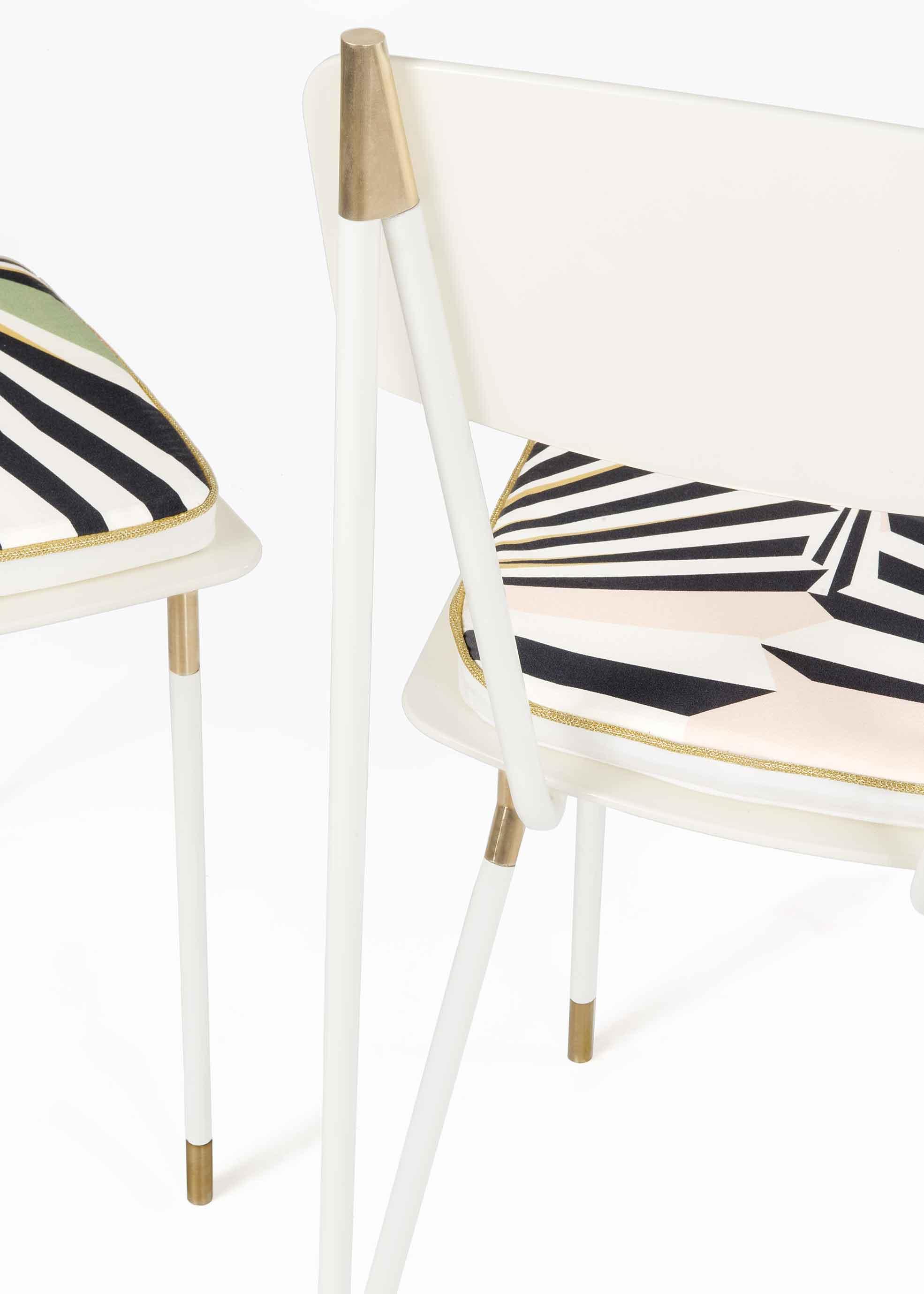 Still life of chairs of Aquiloni collection of the designer Derek Castiglioni Photographer Maria Teresa Furnari