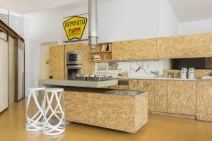 Wooden Kitchen in the studio Alessio Riva Architect Photographer Maria Teresa Furnari