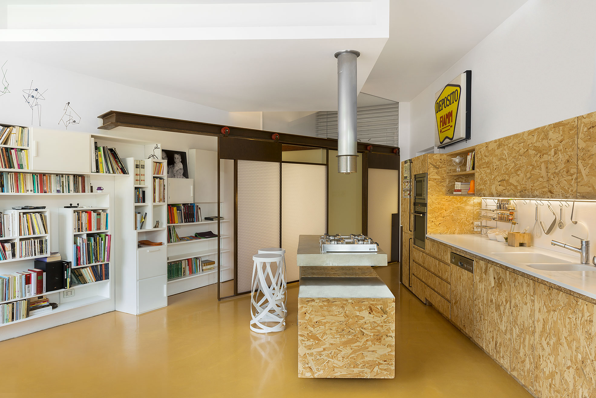 Wooden Kitchen in the studio Alessio Riva Architect Photographer Maria Teresa Furnari