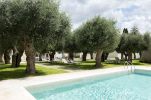 GSwimming pool and olive trees in La fiermontina resort in Lecce Photographer Maria Teresa Furnari
