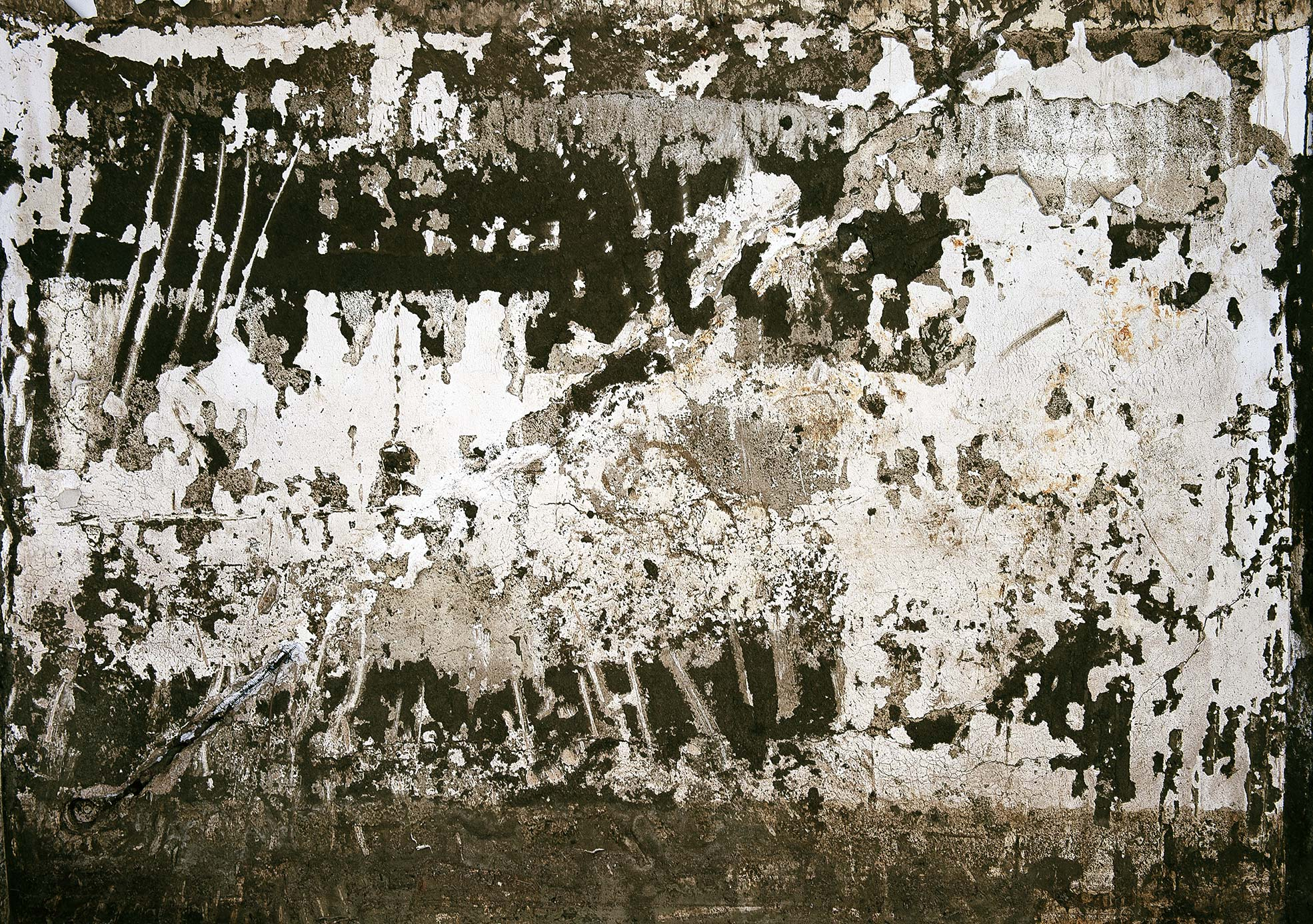 Marks of mud on a wall one of the trail of Giampilieri after the flood Photographer Maria Teresa Furnari