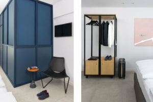 Detail of wardrobe at Bnbiz coworking hotel Photographer Maria Teresa Furnari