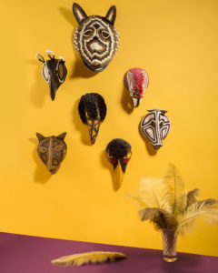 Still Life of tribal maskes for the E-commerce of Funky Table Photographer Maria Teresa Furnari