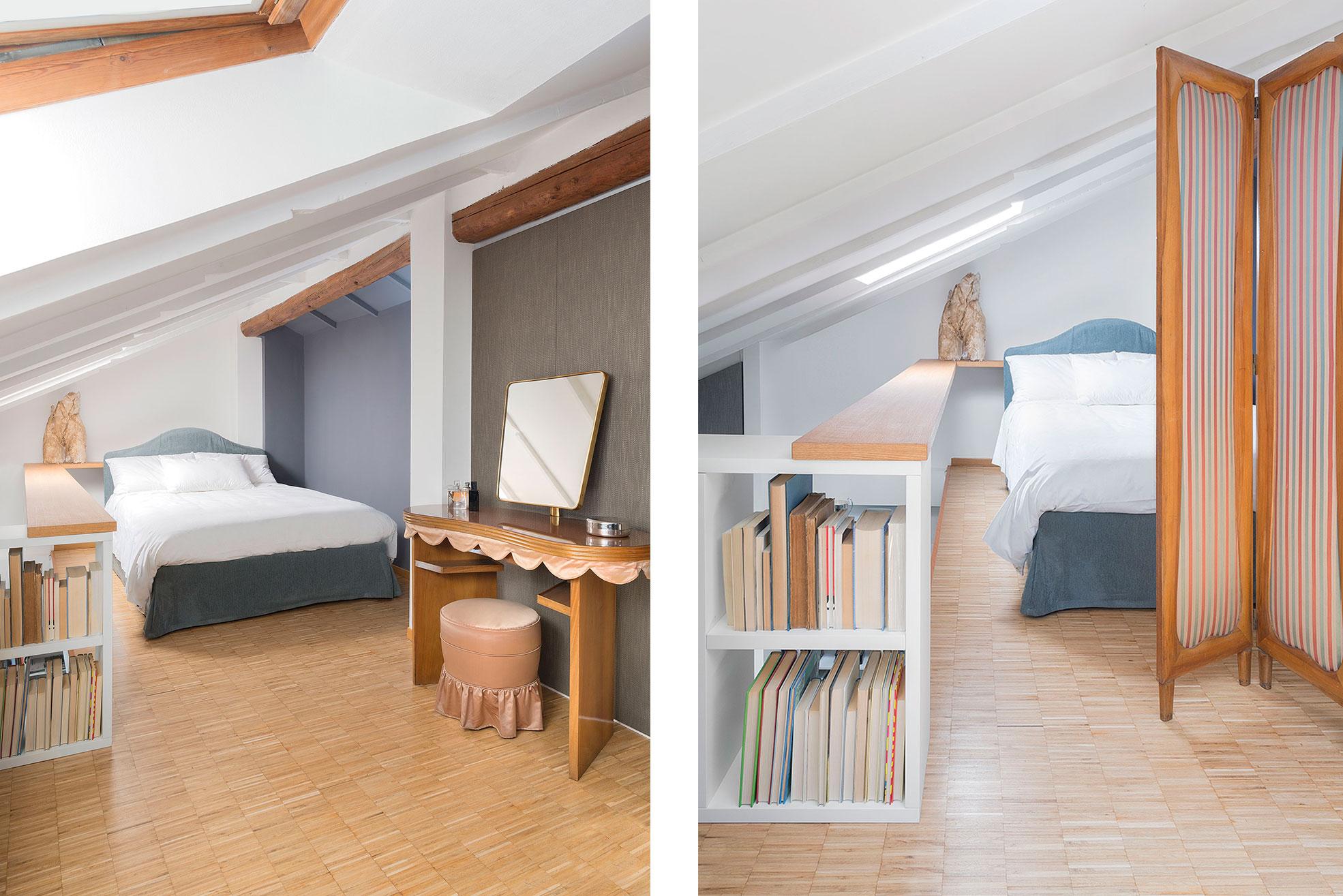 Bedroom of Federica Fracassi's Home Photographer Maria Teresa Furnari