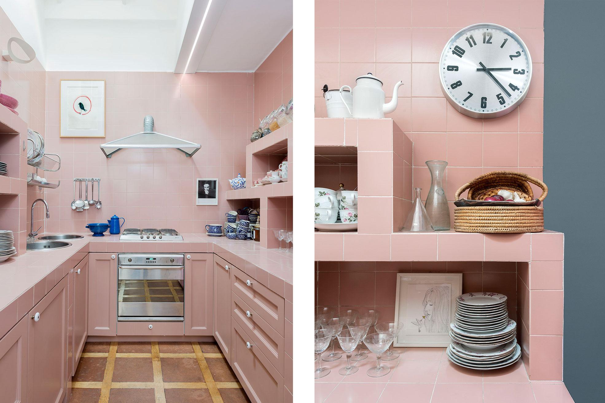 Kitchen of Federica Fracassi's Home Photographer Maria Teresa Furnari
