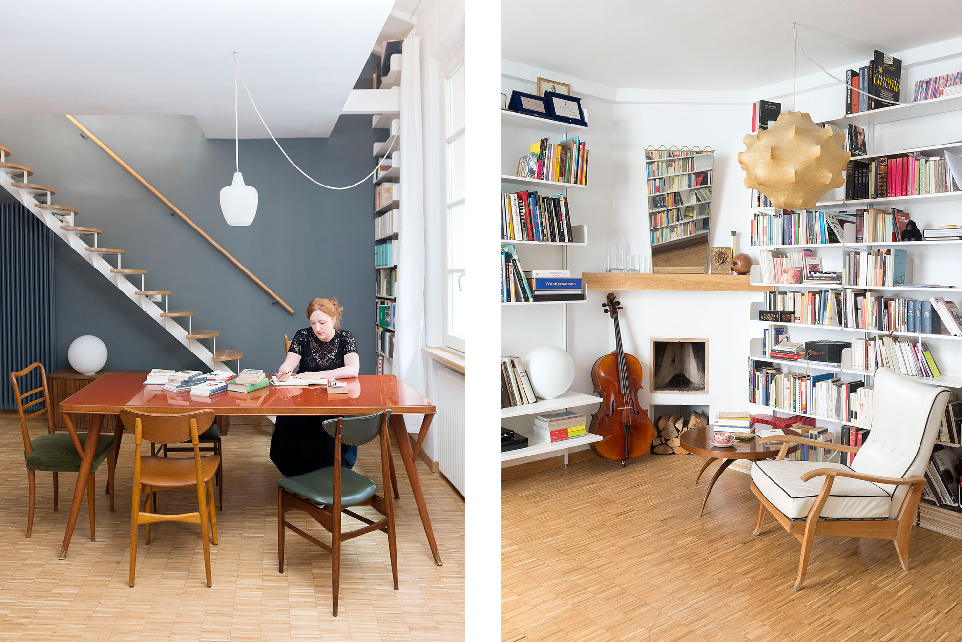 Details of the livingroom of Federica Fracassi's Home Photographer Maria Teresa Furnari