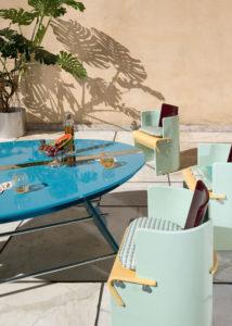 Table and Chairs Detail Supernova Collection of Derek Castiglioni Photographer Maria Teresa Furnari