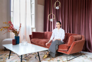 Portrait of the designer Cristina Celestino at Brera Design Apartment Photography of Maria Teresa Furnari