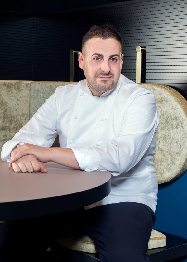 Portrait of Chef Luca La Peccerella, at Il Memorabilia Restaurant