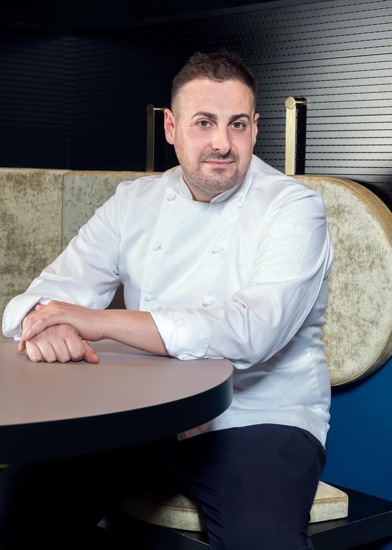 Portrait of Chef Luca La Peccerella, at Il Memorabilia Restaurant